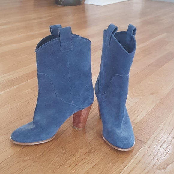 Blue Suede Cowboy Boots | Poshmark